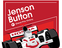 Jenson Button Tribute Poster