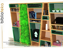 Biblioteka - modular bookshelf