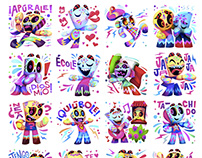 Day of the Dead Facebook Chat Stickers