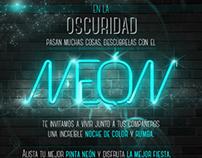 Afiche Fiesta Neón ISMM