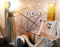 Window display for Gucci