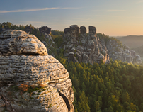 sunrise at the Bastei