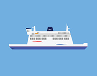 Wightlink & Ferry Illustrations