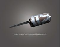 Dibujo en vectores de hoja oculta de Assassin's Creed