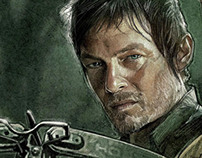 Official HBO The Walking Dead Art Print