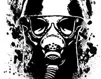 Halloween Gas Mask Shirt