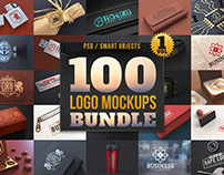 100 Logo Mockups Bundle Vol.1
