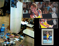 ana ivanovic oil painting