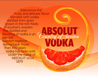 ABSOLUT Vodka label uplifting