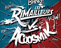 """Les Rimailleurs vs. Acoosmik"" concept album artwork"