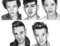 One Direction Art Cards