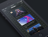 Dark/Night Mode of Vimeo App