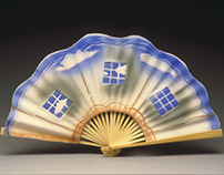 Porcelain Chinese Fan