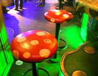 Infected Mushroom Stool - Bulldog CoffeShop - Amsterdam