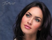 Megan Fox retoque digital