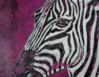 """""""Serengeti Soldier""""  Acrylic on Canvas 18"""" x 24"""" SOLD"""