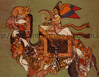 ILLUSTRATION for INDIAN MINIATURE PAINTING DESIGN COMPA