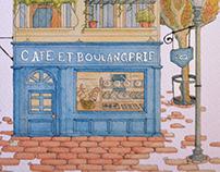 Cafe et boulangerie