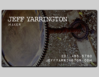 Business Cards: Jeff Yarrington, maker