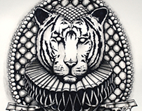 """""""Oh My Tiger"""" - Pen and Ink Wash Illustration"""