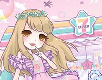 Sweet Pastel Seven-Eleven