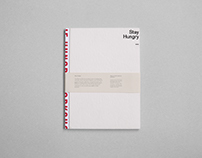 Stay Hungry - Publication Design