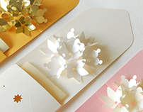 Flowers Pop-up Envelope