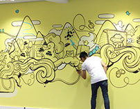Sumo Digital Office Murals
