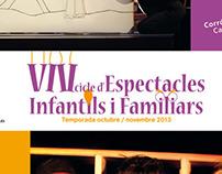 Logotipo y Carteles VIII Cicle d'Espectacles Infantils