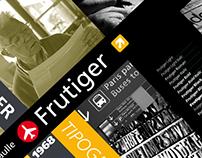 Tipografía - Frutiger