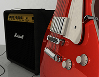 Gibson Les Paul & Marshall Amplifier