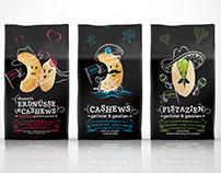 Nuts packagings family