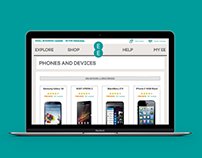 EE Merger With T-Mobile & Orange Ecommerce UX Design
