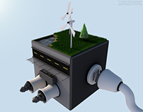 ENERGY TYPES - LOW POLY ISOMETRIC