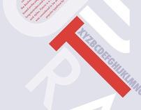 Futura Type Specimen, Typography
