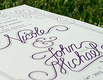 Nicole & John Michael Wedding Invitation