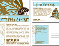 Butterfly Exhibit | Poster & Invitation