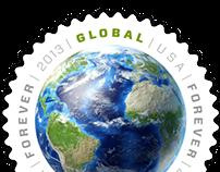 2013 USPS Postage Stamp: Global Forever