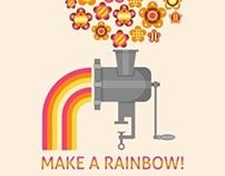 Make a rainbow!