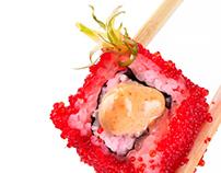 Japanese cuisine. Rolls.