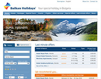 Balkan Holidays Bulgaria Website