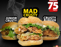 The Crusty Burger Family | Photography & Print ad