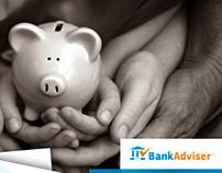 BankAdviser // Logo // Survey // Landing Page