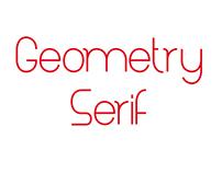 Geometry Serif