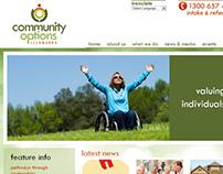 Community Options Illawarra - Web Design/Development