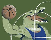 University basketball mascots