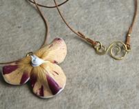 Real Rose Petals Pendant - Botanist In Love Jewelry