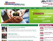 Macarthur Diversity Services - Web Design/Development