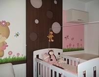 Dormitório bebê menina