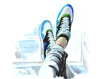 Watercolor shoes
